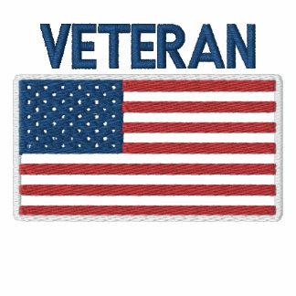 USA American Veteran Patriotic Flag Embroidered Polo Shirts