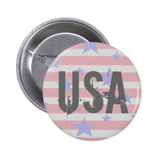 USA Americana 4th of July Patriotic Button 2 Buttons