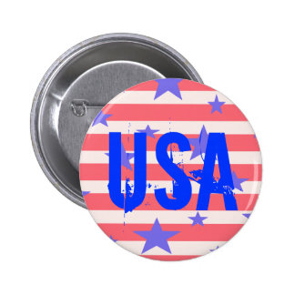 USA Americana 4th of July Patriotic Button Button