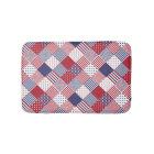 USA Americana Diagonal Red White & Blue Quilt Bath Mat