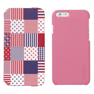 USA Americana Patchwork Red White & Blue Incipio Watson™ iPhone 6 Wallet Case