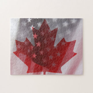 USA and Canada flags jigsaw puzzle
