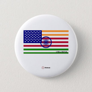 USA and India Flag Button
