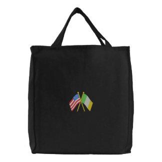 Usa and Ireland Embroidered Tote Bag