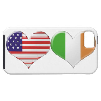 USA and Irish Heart Flags Tough iPhone 5 Case