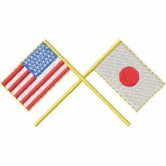 Usa and Japan Embroidered Polo Shirts