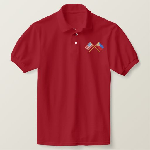 Usa and Phillipines Embroidered Polo Shirt