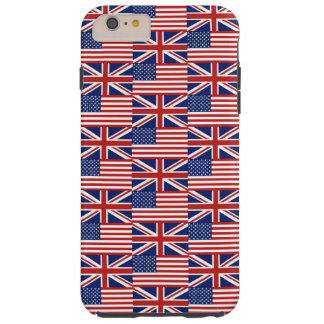 USA and UK Flags Tough iPhone 6 Plus Case
