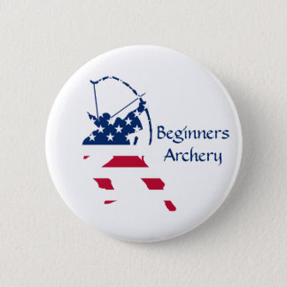 USA Archery American archer flag 6 Cm Round Badge