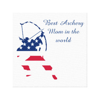 USA Archery American archer flag Canvas Print