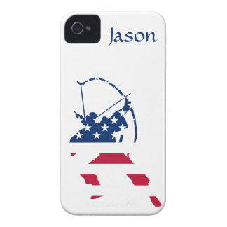 USA Archery American archer flag Case-Mate iPhone 4 Case