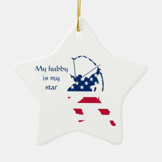 USA Archery American archer flag Ceramic Ornament