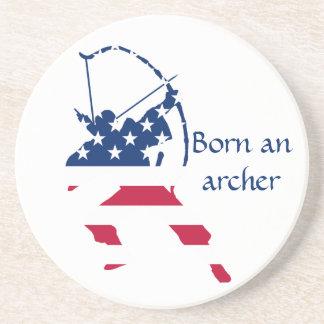 USA Archery American archer flag Coaster