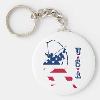 USA Archery American archer flag Key Ring