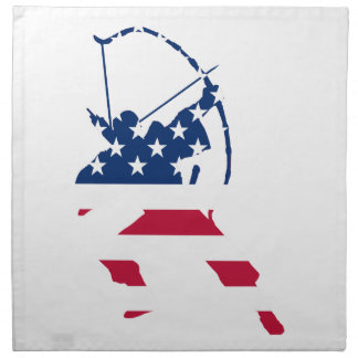 USA Archery American archer flag Napkin