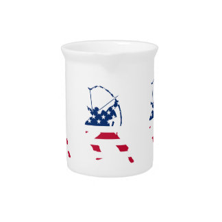 USA Archery American archer flag Pitcher