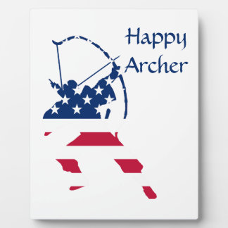 USA Archery American archer flag Plaque