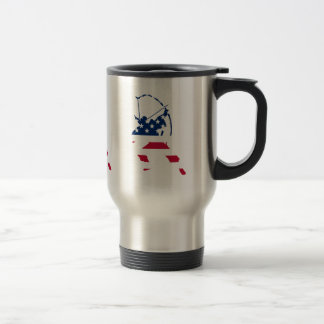 USA Archery American archer flag Travel Mug