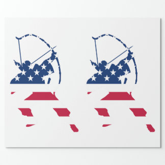 USA Archery American archer flag Wrapping Paper