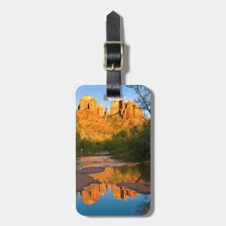 USA, Arizona. Cathedral Rock At Sunset Travel Bag Tag