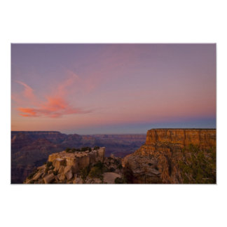 USA, Arizona, Grand Canyon at sunset Poster