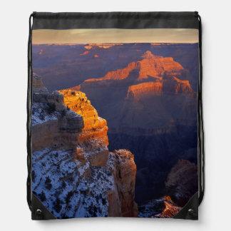 USA, Arizona, Grand Canyon National Park, Winter Drawstring Bag