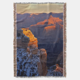 USA, Arizona, Grand Canyon National Park, Winter Throw Blanket