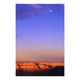 USA, Arizona, Grand Canyon NP. Moon in sky as Photo Print