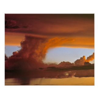 USA, Arizona, Grand Canyon NP. Sunset creates Poster