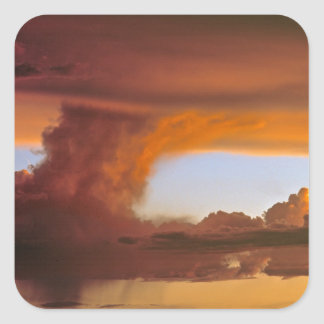 USA, Arizona, Grand Canyon NP. Sunset creates Square Sticker