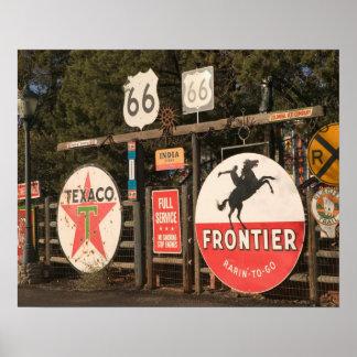 USA, Arizona, Sedona: Antique Advertising Signs