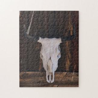 USA, Arizona. Skull On A Shop Wall Jigsaw Puzzle
