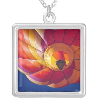 USA, Arizona, Val Vista. A colorful hot-air Square Pendant Necklace