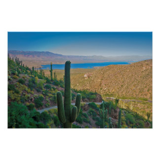 USA, Arizona. View From The Entrance To Tonto Posters
