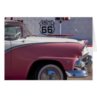 USA, Arizona, Williams. Rt. 66 Town, 1950's Greeting Card