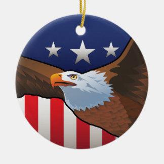 USA Bald Eagle Ceramic Ornament