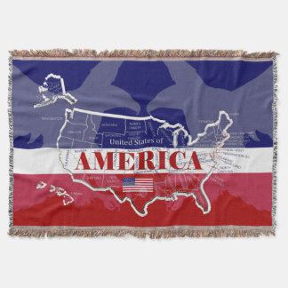 USA Bald Eagle Throw Blanket