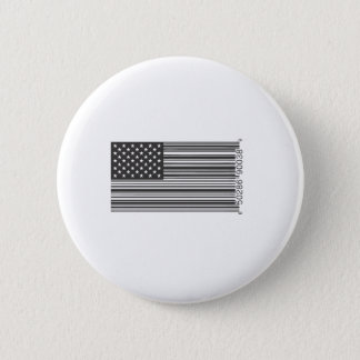 USA Barcode 6 Cm Round Badge