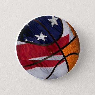 USA Basket Ball 6 Cm Round Badge
