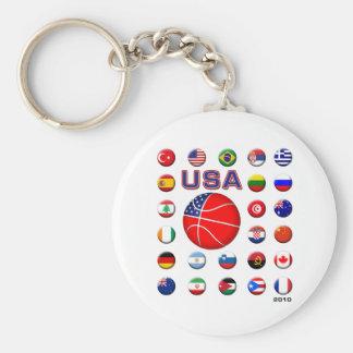 USA Basketball 2010 Basic Round Button Key Ring