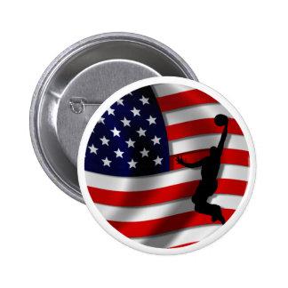 usa basketball 6 cm round badge