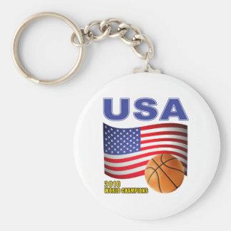 USA Basketball World Champions 2010 Basic Round Button Key Ring