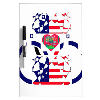USA Beautiful Amazing Text Lovely Heart colors Art Dry Erase Board