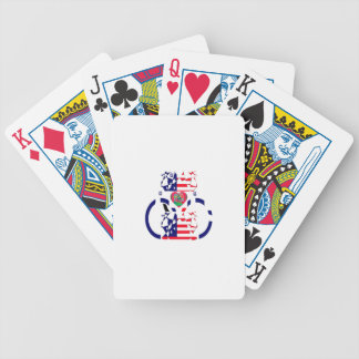 USA Beautiful Amazing Text Lovely Heart colors Art Poker Deck
