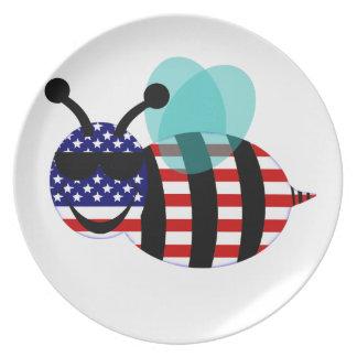 usa bee dinner plate