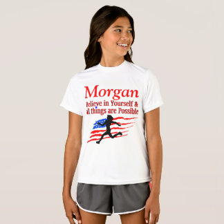 USA BELIEVE IN YOURSELF RUNNER PERSONALIZED TEE