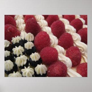 usa berries and cream print
