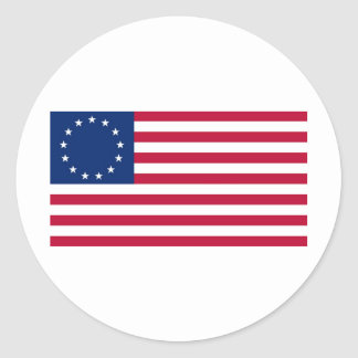 USA Betsy Ross Flag Classic Round Sticker