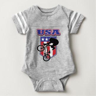 USA-BMX Biker Baby Bodysuit