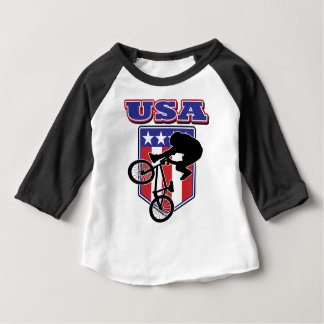 USA-BMX Biker Baby T-Shirt